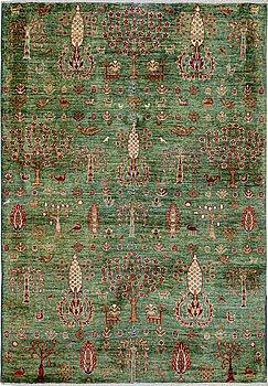 A rug, Khorjin, ca 207 x 146 cm.