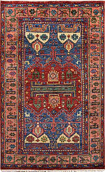 A carpet, Mamluk, design, ca 249 x 156 cm.