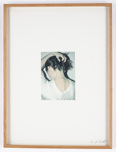 Annika von hausswolff, lithograph in colours after a photograph signed and numbered h.c.