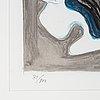 Charlotte gyllenhammar, färglitografi signerad och numrerad 31/100.