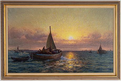 Emil ekman, oil on canvas, signed.