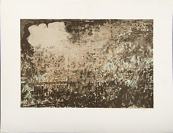 Ola Billgren,  color lithograph, signed -82 trail print.