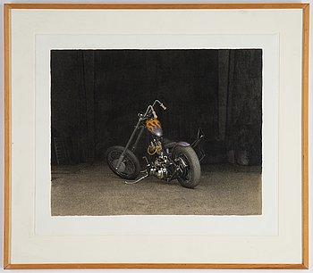 John-E Franzén, lithograph in colours, 1997, signed 119/250.