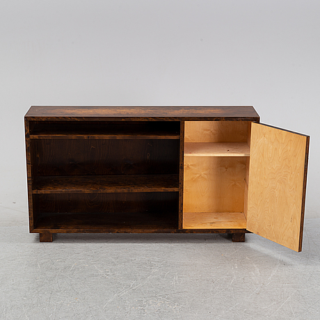 A stained birch bookcase, 1930's.