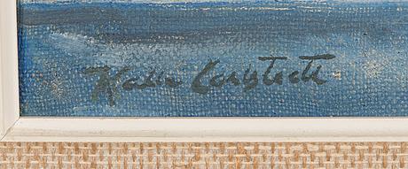Kalle carlstedt, oil on canvas, signed.