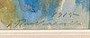 Jalmari ruokokoski, akvarell, signerad och daterad 1915.