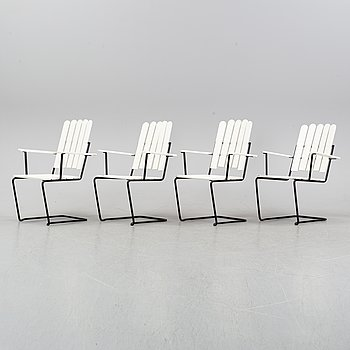 """A set of four """"A2"""" garden chairs by Artur Lindqvist for Grythyttan, second half of the 20th century."""