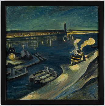 Emil Hagström, oil on canvas, signed and dated 1931.