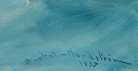 Bertel bertel-nordström, oil on canvas, signed and dated 1937.