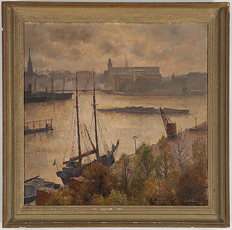 Åke nothberg, oil on panel, signed and dated 1941.