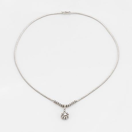 Brilliant-cut and eight-cut diamond necklace.