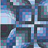 Victor vasarely, serigraph in colours signed and numbered 216/250.