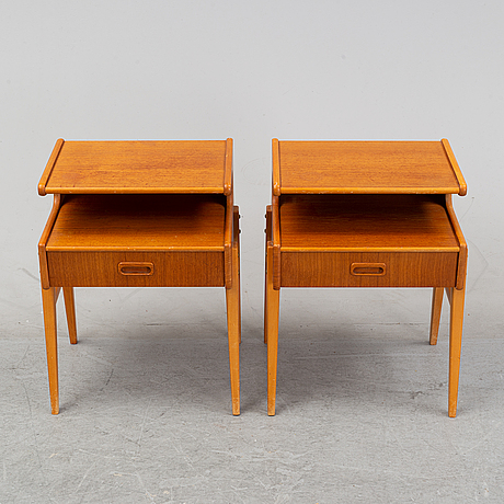 Sängbord, ett par, 1950/60-tal.