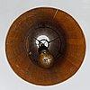 A jörgen wolff wooden ceiling lamp for christian a. wolff, denmark 1950s.
