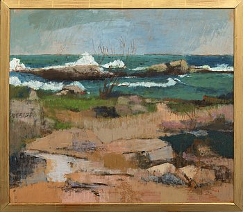 Anders Lindgren, oil on panel signed and dated 77.
