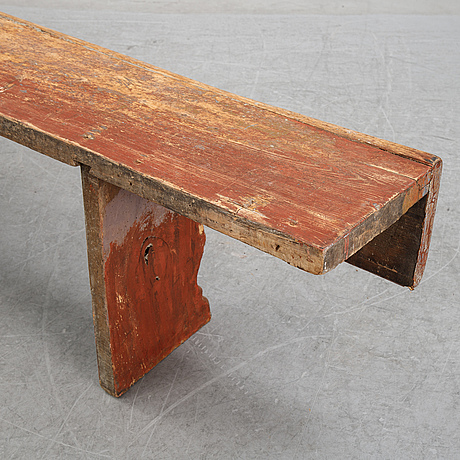 A painted bench, 19th/20th century.