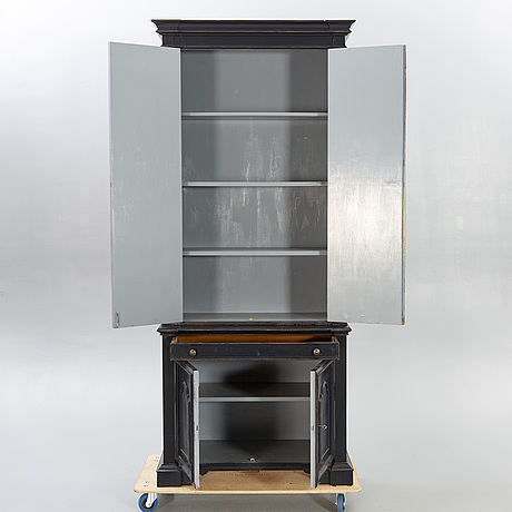 A modern painted cabinet.