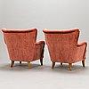 Ilmari lappalainen, a pair of mid-20th-century 'laila' armchairs for asko, finland.
