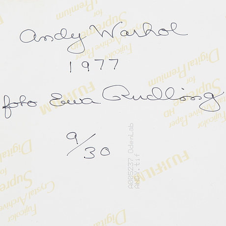 Ewa rudling, a photograph, signed and dated 1977, numbered 9/30.