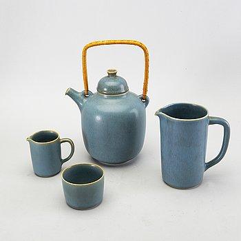 A 4 piece stonewear tea service from Palshus, Denmark.