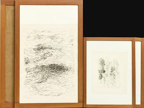 Børge mogensen, ramar, 4 st, oregon pine, 1960-tal.