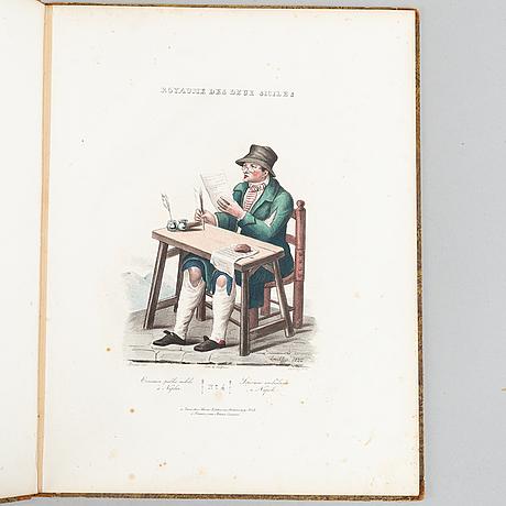 Hand-coloured italian costume plates, 3 vols., c. 1826.