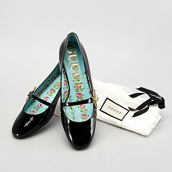 """Gucci, shoes, """"Floral ballerina"""", size 38.5."""