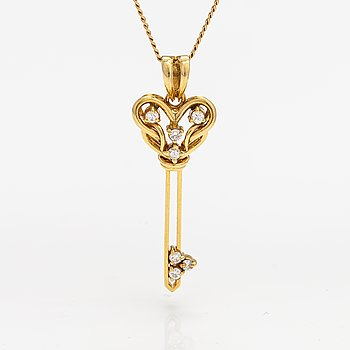 Kaulakoru, 18K kultaa, timantteja n. 0.10 ct yht.