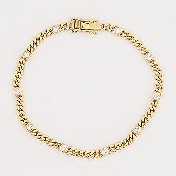 Armband, med briljantslipde diamater, totalt ca 0.50 ct.
