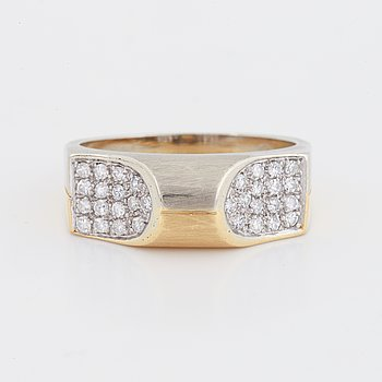 Eight-cut diamond ring.