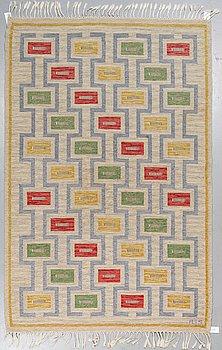Anna-Greta Sjöqvist, a carpet, flat weave, ca 260 x 168,5-172,5 cm, signed AGS.