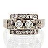 Ring 18k vitguld med briljanter och diamanter 8/8 ca 0,50 ct , g dahlgren & co malmö.