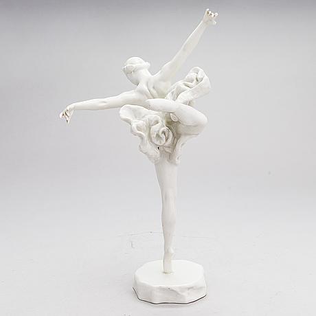 Elena yanson-manizer, after, porcelain figurine by lomonosov porcelain factory, soviet.