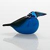 Oiva toikka, a glass bird signed o. toikka iittala.