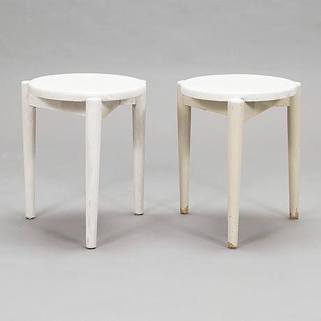 Ilmari tapiovaara, two 1930's stools for häkli.