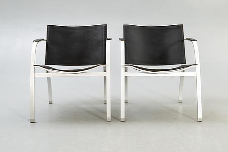 "Tord björklund, armchairs, a pair, ikea, ""stockholm"", 1990."
