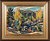 Ilmari aalto, oil on panel, signed and dated 1921 a verso.