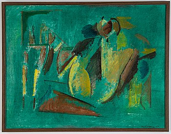 Bertil Öhlund, oil on canvas, signed and dated 1963.