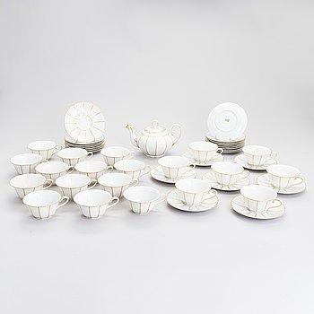A 21-pieces porcelain tea set, Bavaria, Germany.