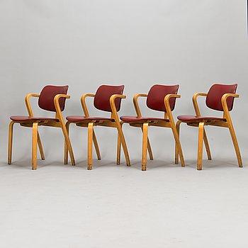 Ilmari Tapiovaara, Four 1960's  'Aslak' chairs.