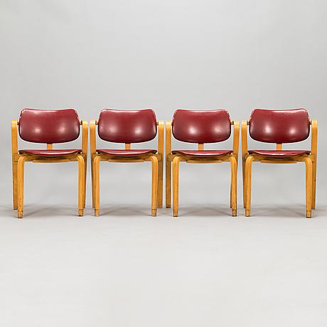 "Ilmari tapiovaara, karmstolar, 4 st, ""aslak"" 1960-tal."