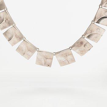 "Björn Weckström, A sterling silver necklace ""Galactic peaks"". Lapponia 2008."