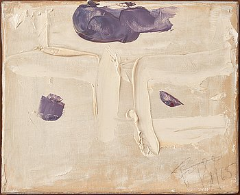 Eddie Figge, oil on canvas, signed and dated 1965.