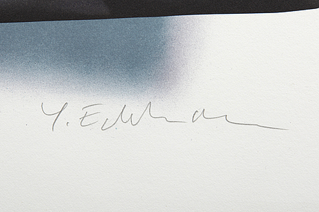 Yrjö edelmann, color lithographs, 2 pcs, signed and numbered.