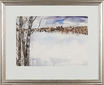 Nandor Mikola, watercolour, signed and dated 1980.