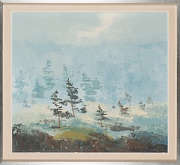 Unto Ahola, oil on canvas, signed and dated 1973.