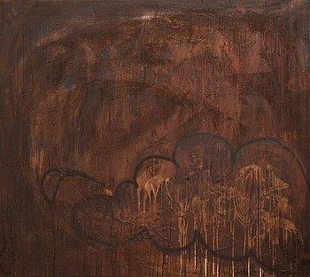 Janne Wiljakainen, mixed media on canvas.