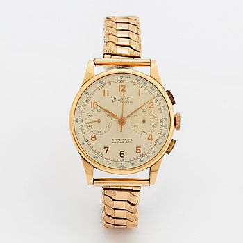 Breitling, Cadette, chronograph, wristwatch, 37 mm.