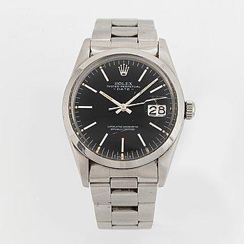 Rolex, Oyster Perpetual, Date, wristwatch, 34 mm.