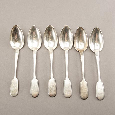 Skedar, 6 st, silver st petersburg 1898-1903.